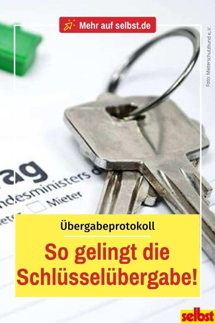 Schlusselubergabeprotokoll Selbst De Wohnungsubergabe Umzug Planen Ubergabeprotokoll