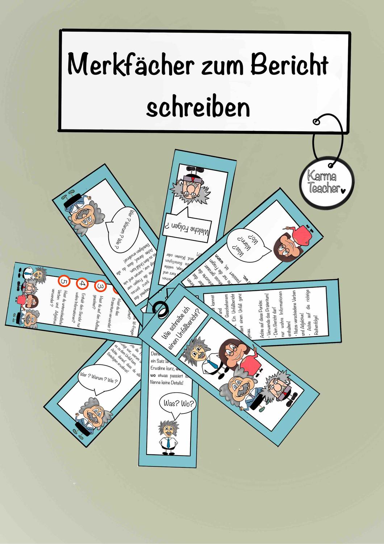 Merkfacher Zu Dem Thema Berichte Schreiben Deutsch Unterricht Deutschlehrer Unterrichtsmaterial Grundschule