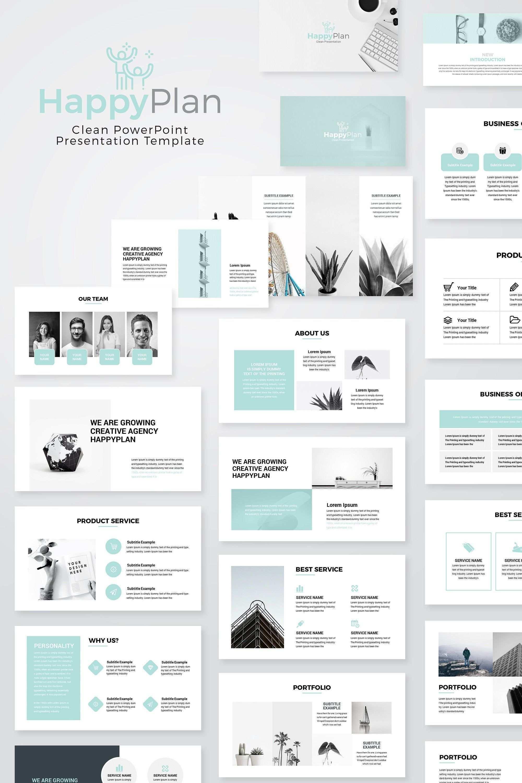 Happyplan Minimal Powerpoint Presentation Template Bookletgestaltung Powerpoint Prasentation Powerpoint Vorlagen