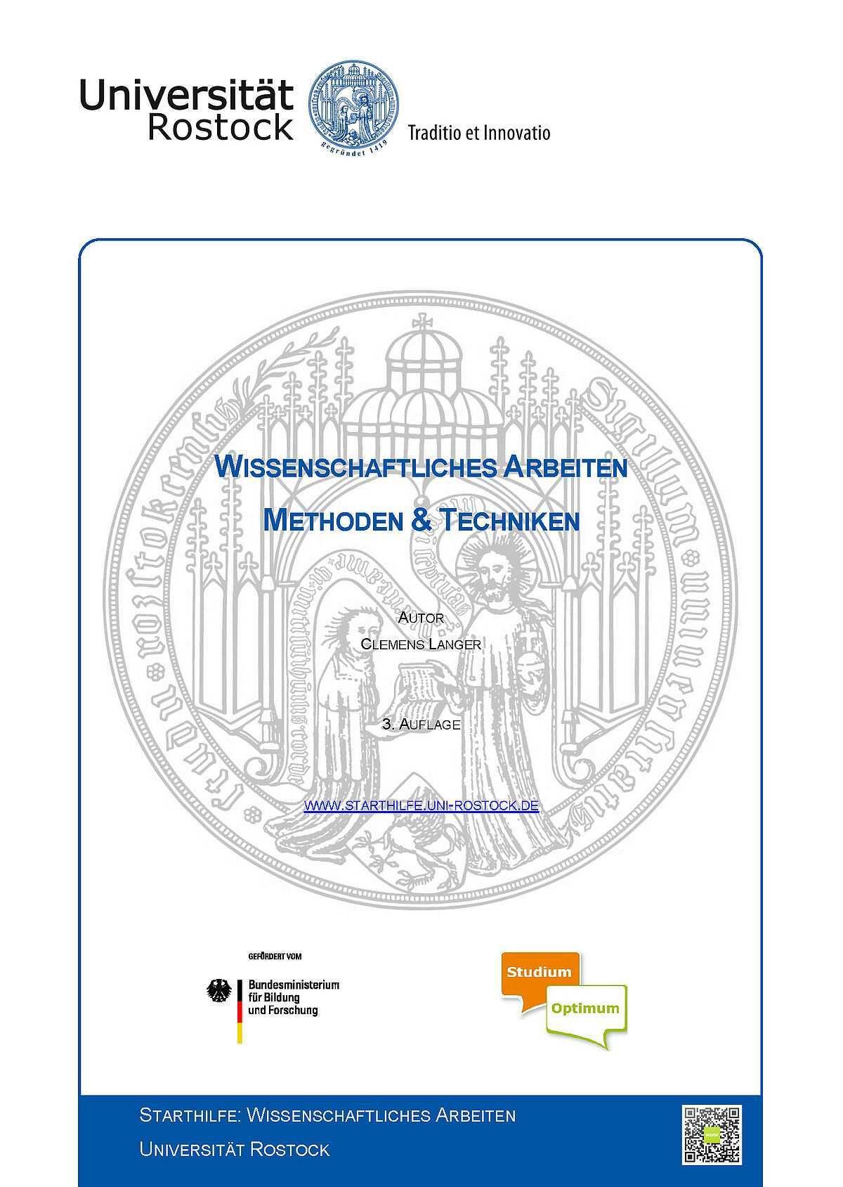 Reader Starthilfe Wissenschaftliches Arbeiten Universitat Rostock