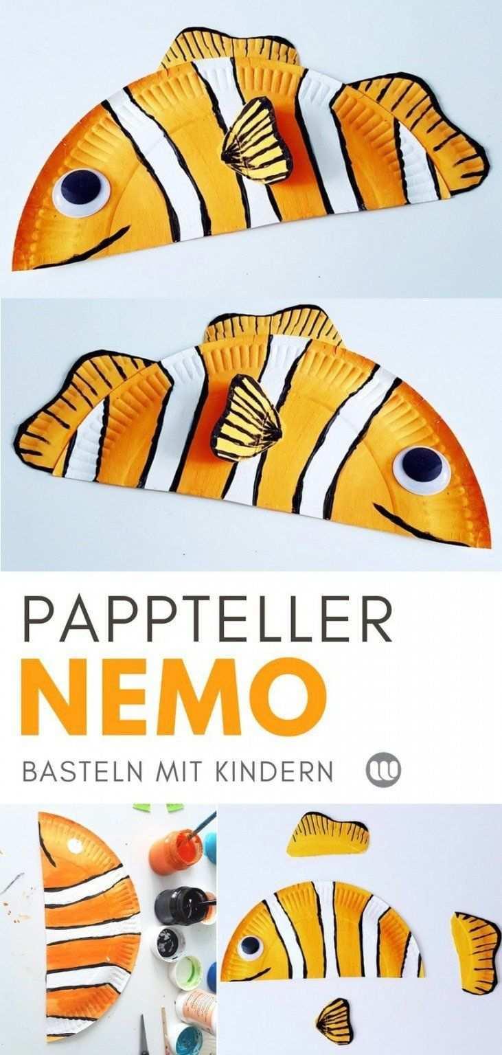 Unterwasserwelt Basteln Pappteller Fische Meerestiere In 2020 Pappteller Fisch Fische Basteln Pappteller