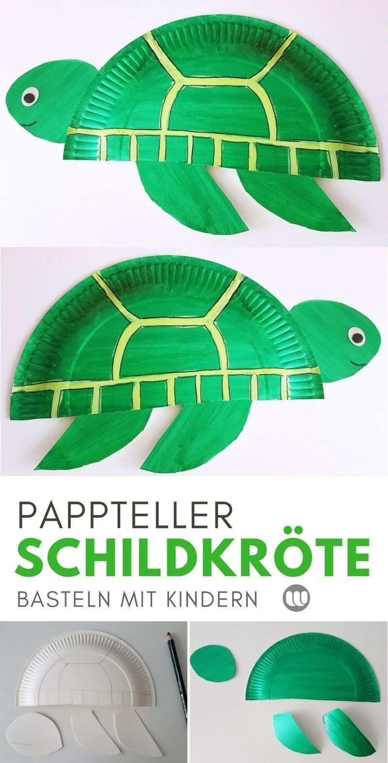 Unterwasserwelt Basteln Pappteller Fische Meerestiere Paper Plate Fish Turtle Crafts Paper Plate Crafts