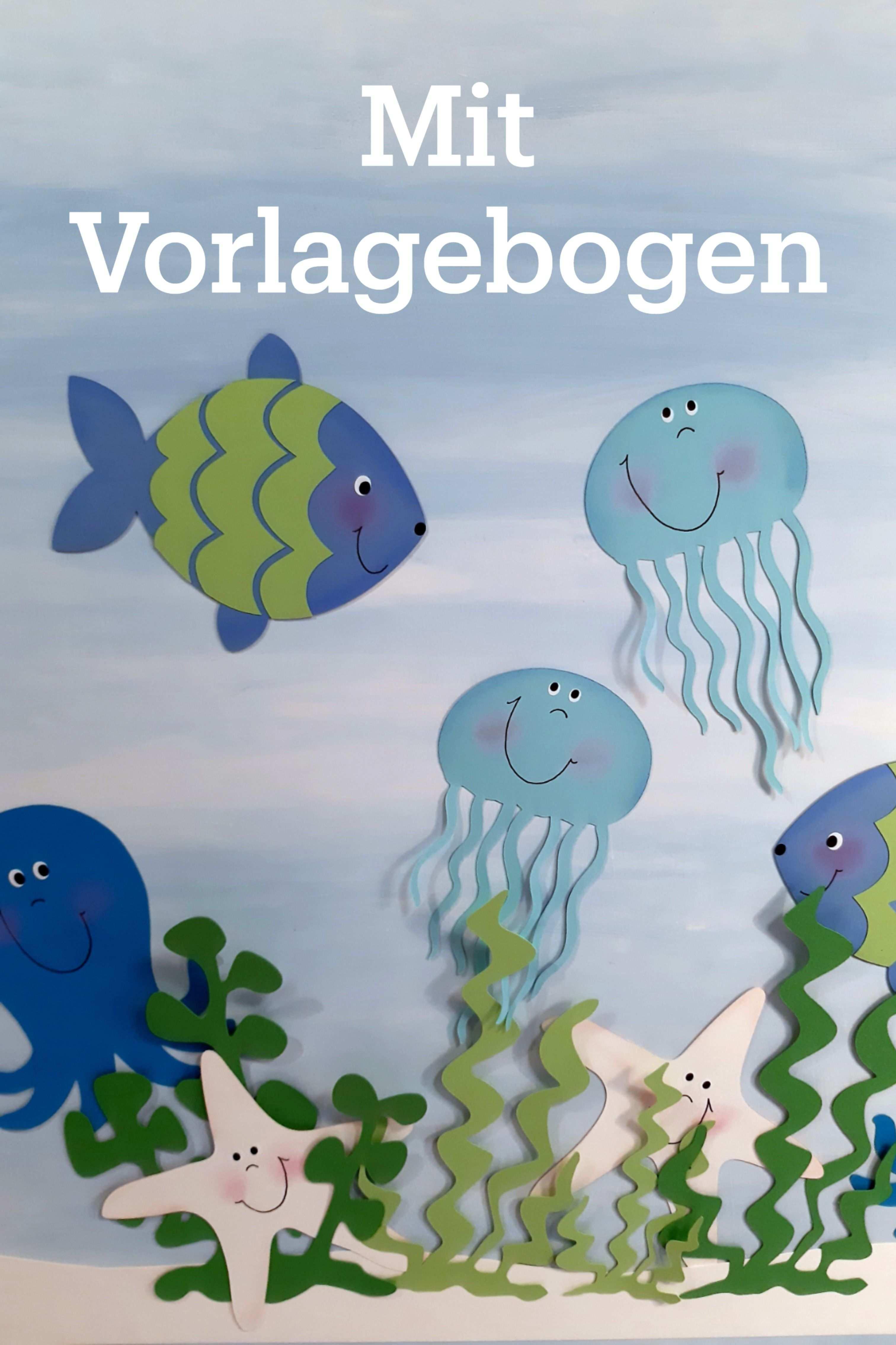 Unterwasserwelt Eine Idee Aus Dem Blog Der Buntpapierwelt De In 2020 Fensterbilder Herbst Basteln Mit Kindern Unterwasserwelt Fische Basteln
