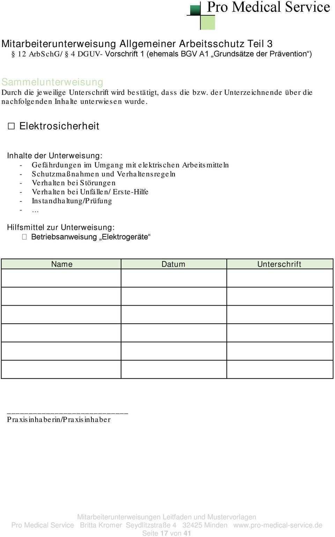 Unterweisungen Der Mitarbeiter In Zahnarztpraxen Pdf Free Download