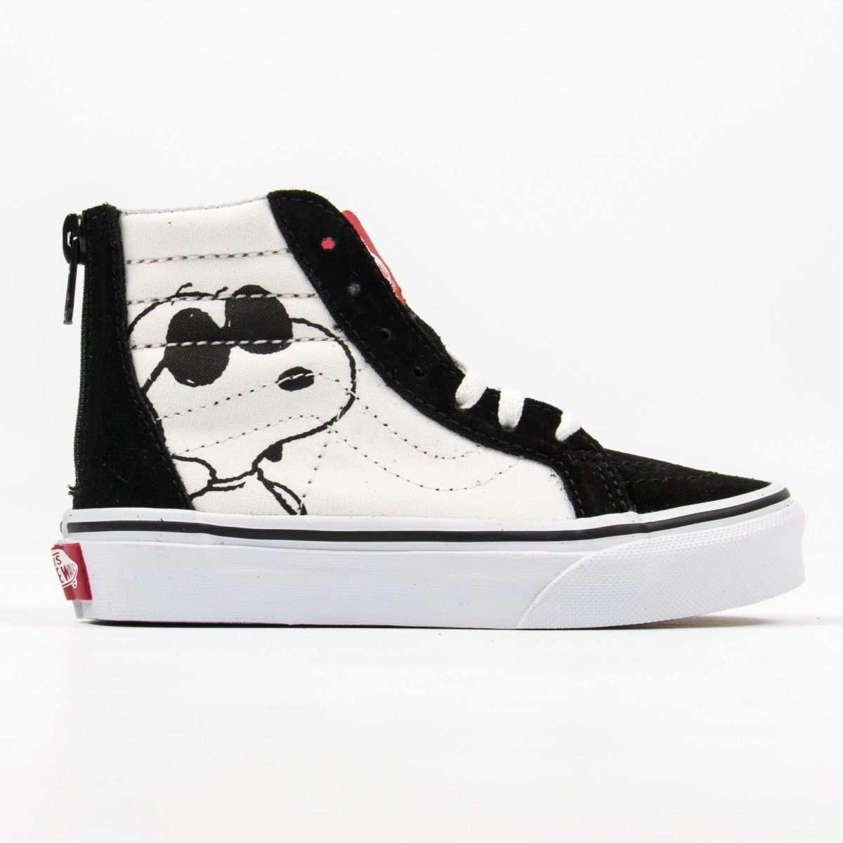 Vans Joe Cool Sk8 Hi Zip Schwarze Sneakers Mit Snoopy Print Kinder Schuhe Diy Schuhe Vans Schuhe