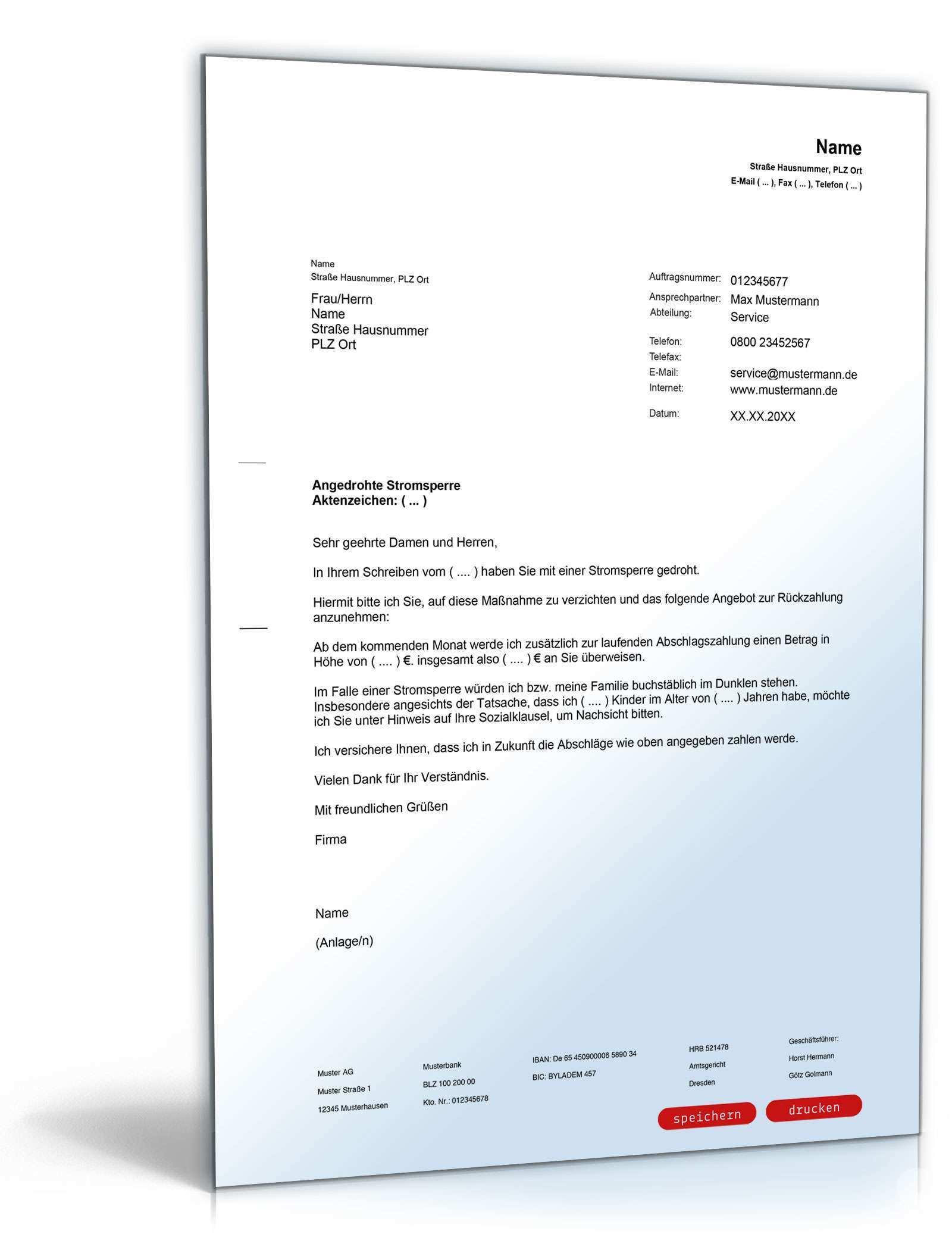 Vergleich Bei Angedrohter Stromsperre Vorlage Zum Download