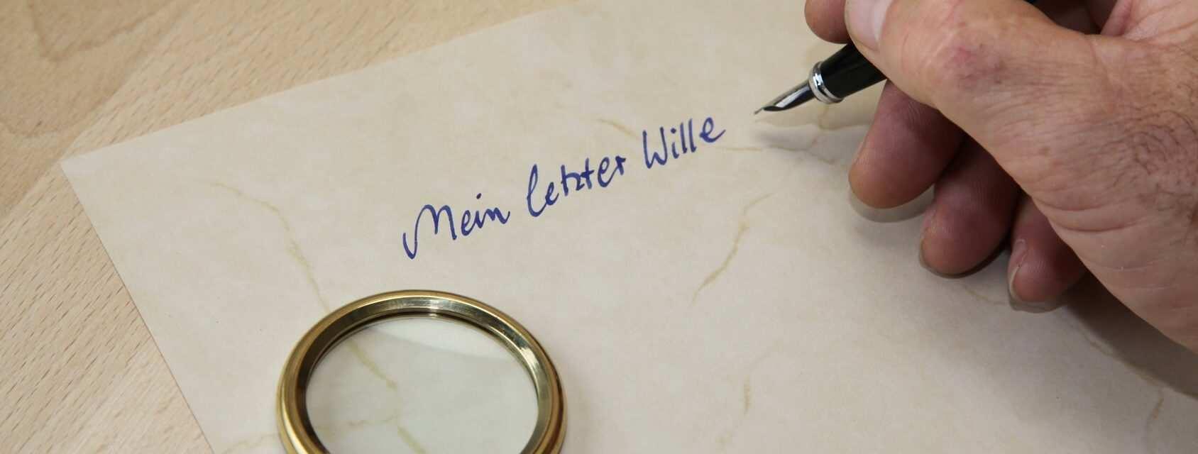 Handschriftliches Testament Erstellen Kostenloses Muster Vorlage