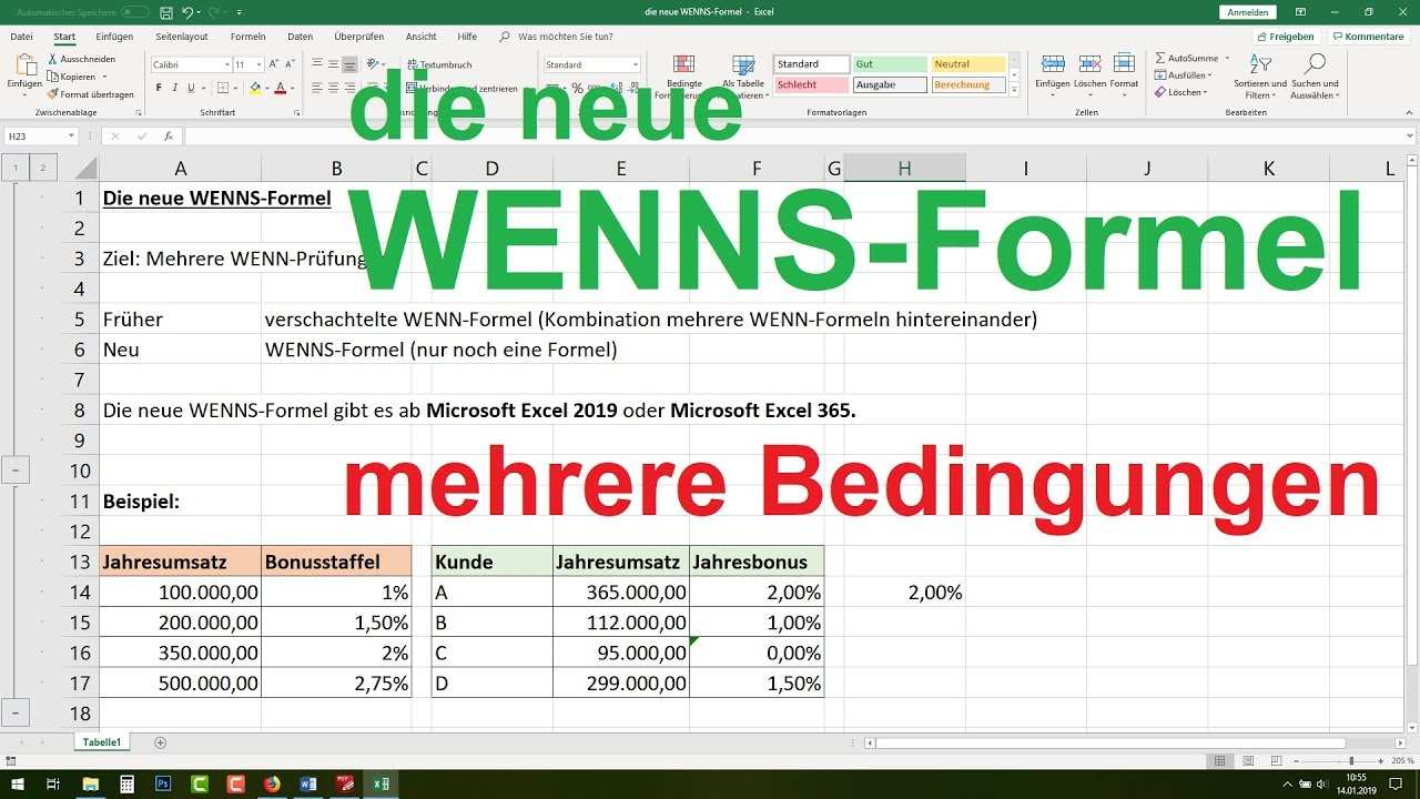 Excel Wenns Funktion Excel Wenn Dann Funktion Verschachtelt Mehrere Bedingungen 2019 365 Youtube