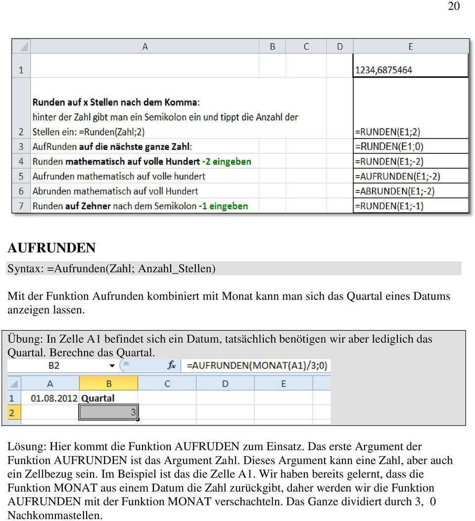 Excel Teil 3 Die 68 Am Haufigsten Verwendeten Funktionen 3 Der Funktionsassistent 3 Funktionsbibliothek Register Formeln Pdf Kostenfreier Download