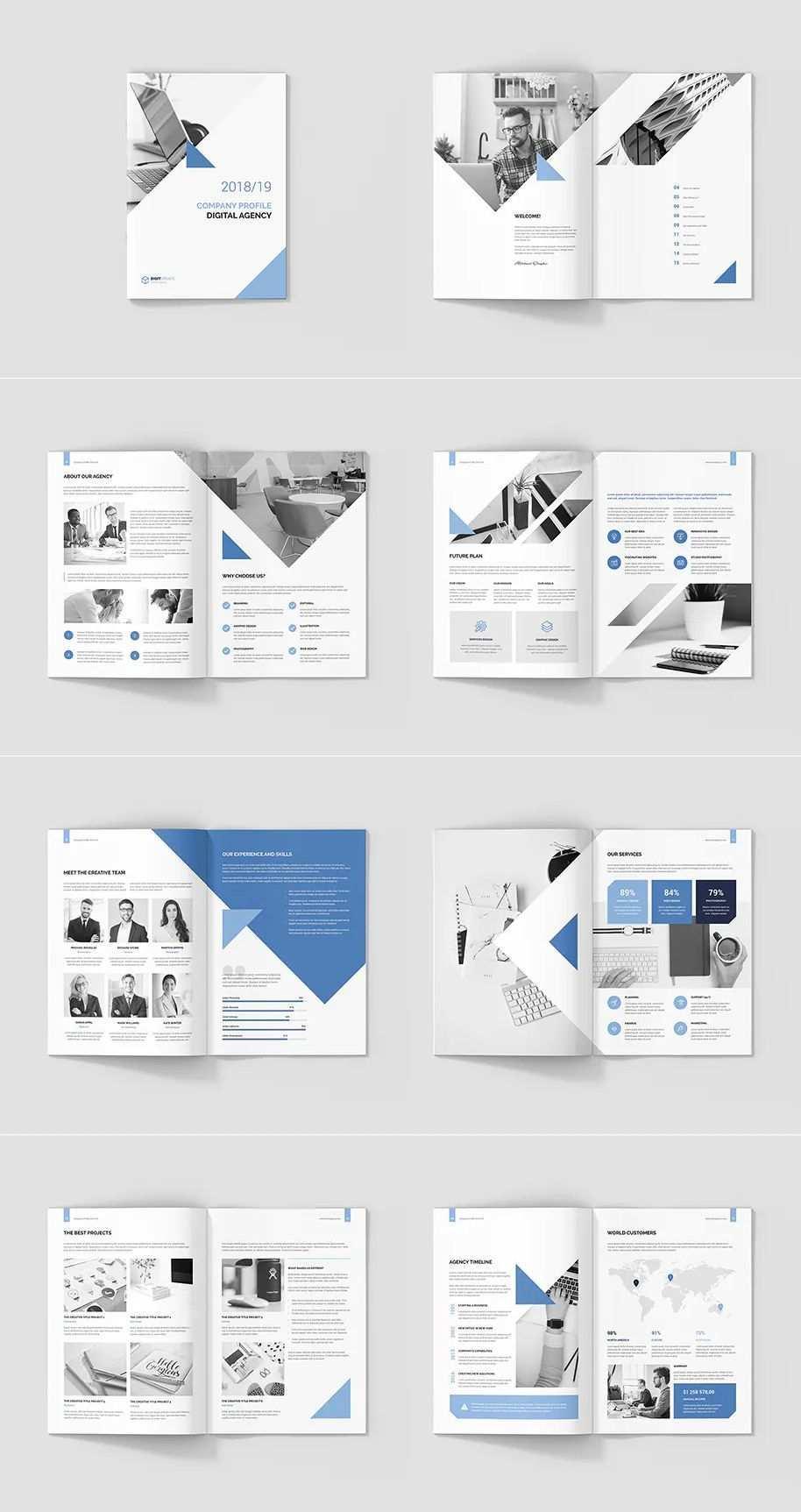 Digital Agency Company Profile Template Ebook Design Layout Company Profile Design Templates Company Profile Template