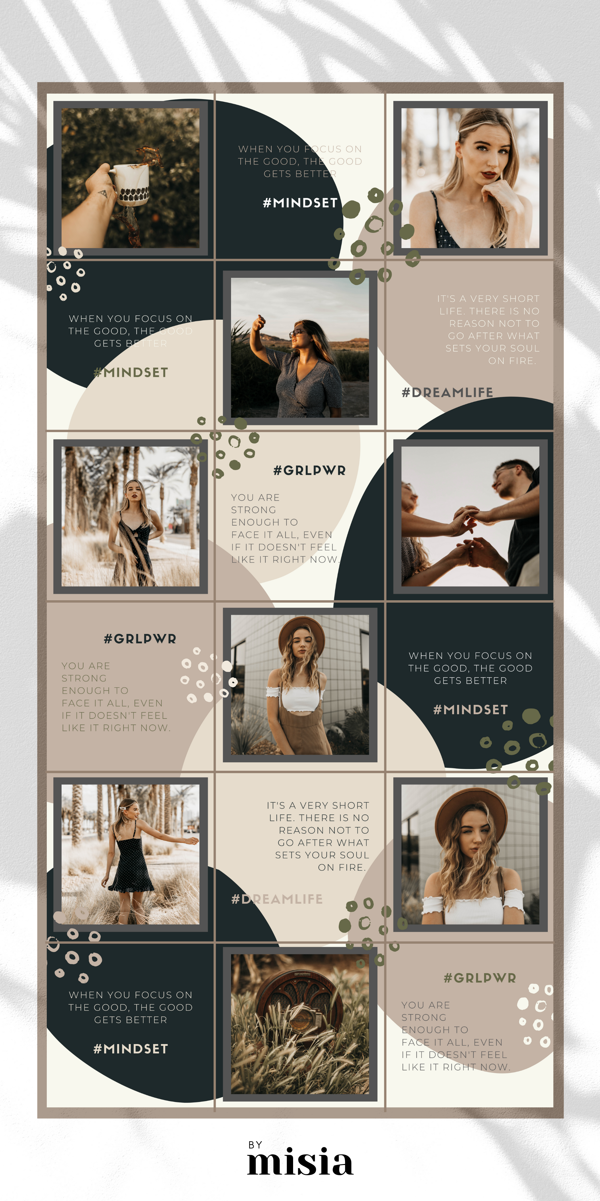 Instagram Puzzle Template For Canva Instagram Template Etsy Instagram Grid Layout Instagram Feed Theme Layout Instagram Grid