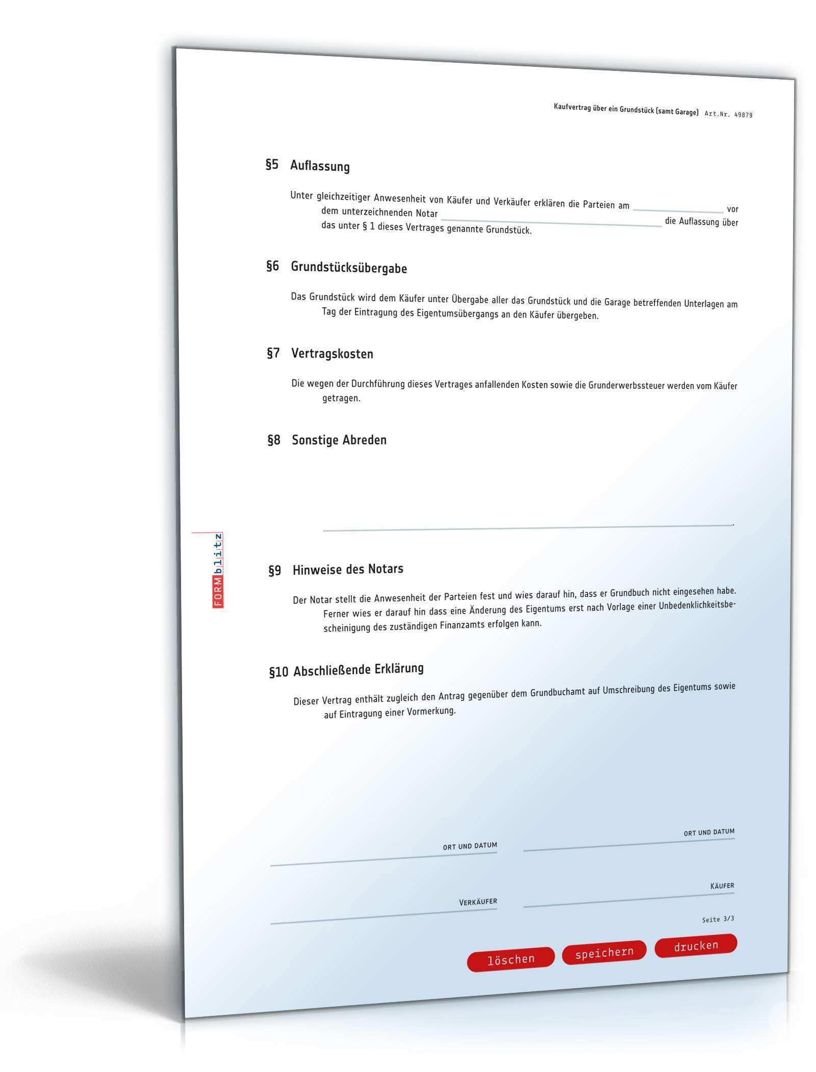 Kaufvertrag Haus Muster Vertrag Zur Sicherungsubereignung Muster Vorlage Zum