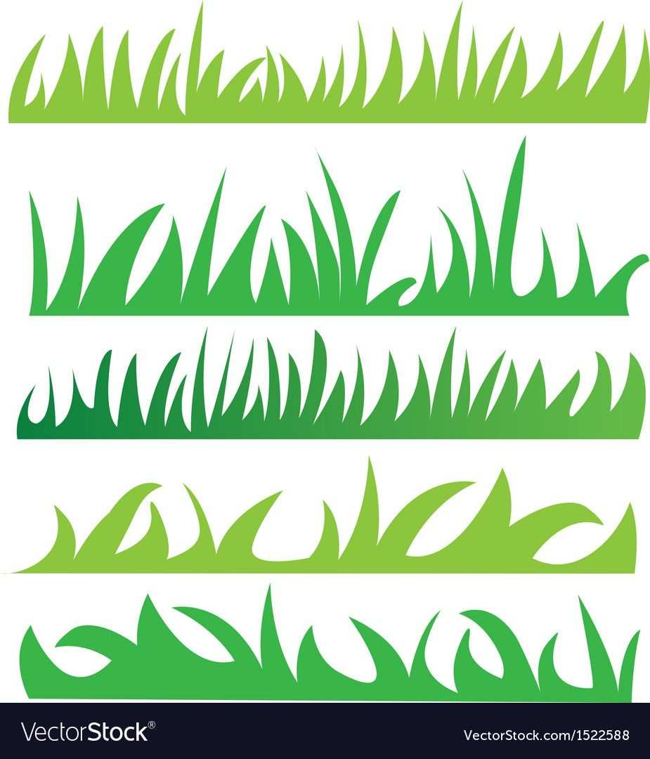 Set Of Green Grass Illustration Vector Download A Free Preview Or High Quality Adobe Illustrator Grass Vector Farm Animal Coloring Pages Art Drawings For Kids