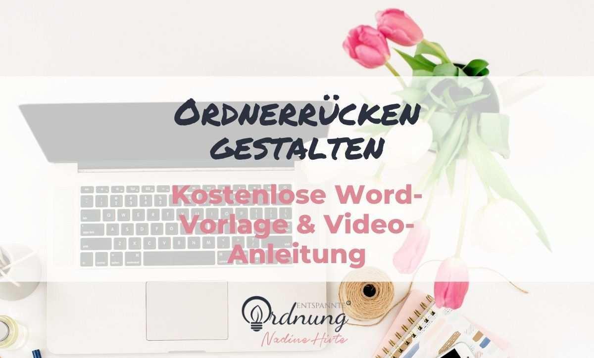 Ordnerrucken Word Kostenlose Vorlage Zum Download Ordnerrucken Vorlage Vorlagen Und Ordner