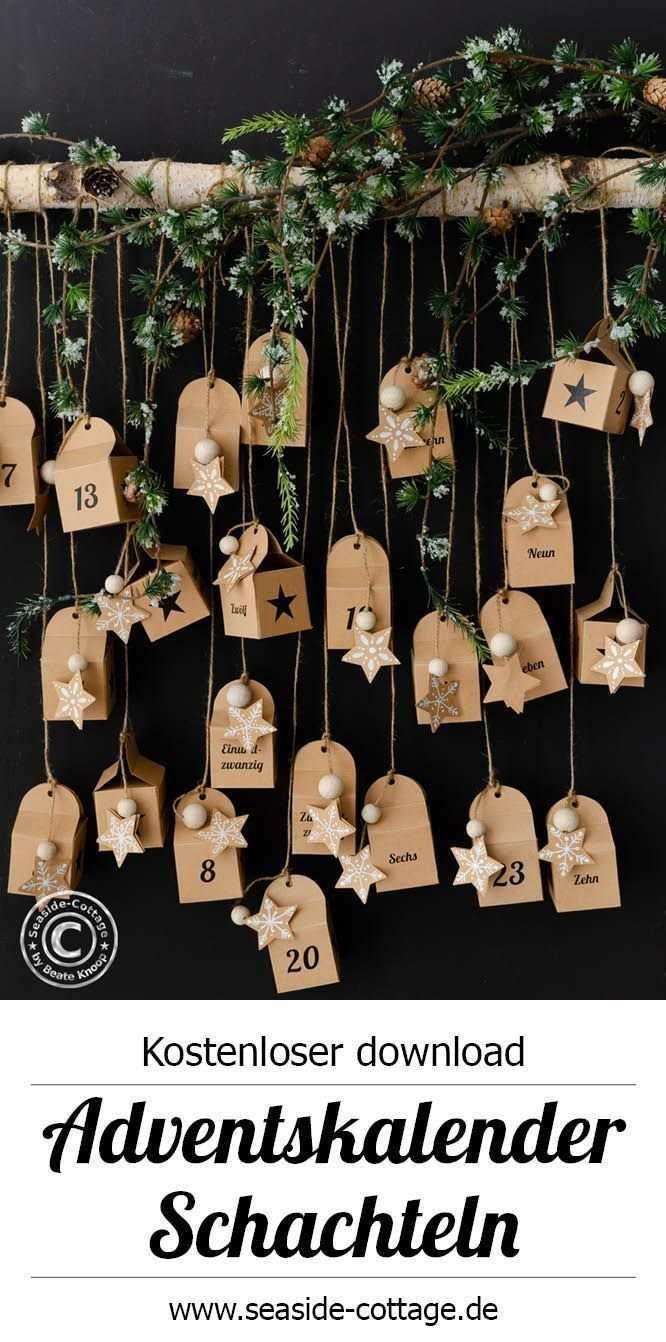 Kostenlose Vorlagen Zum Ausdrucken Fur Adventskalender Zum Befullen Mit Video A Adventkalender Adventskalender Selber Basteln Adventskalender Selbst Gestalten