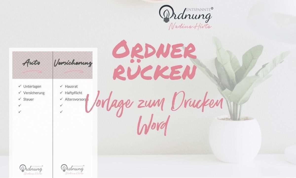 Ordnerrucken Word Kostenlose Vorlage Zum Download In 2020 Ordnerrucken Ordnerrucken Vorlage Ordner