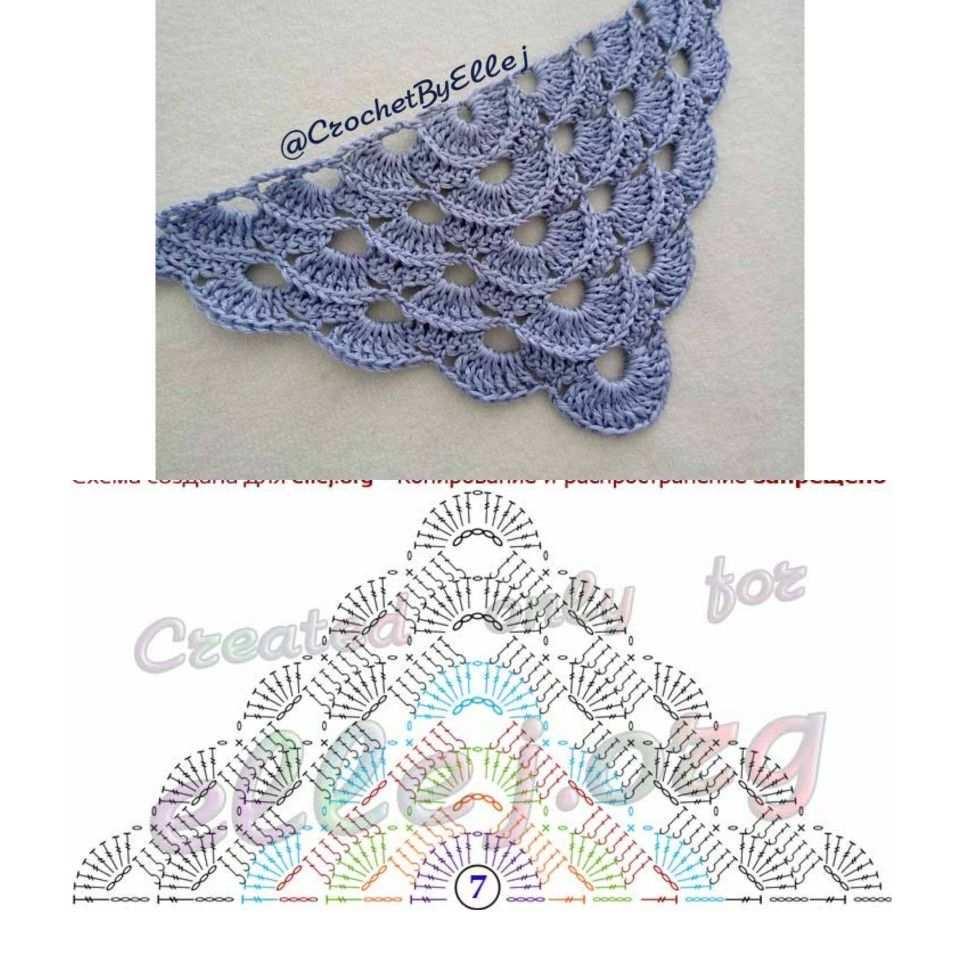 Scarf Crochet Schema Tuch Hakeln Virustuch Hakeln Schultertuch Hakeln