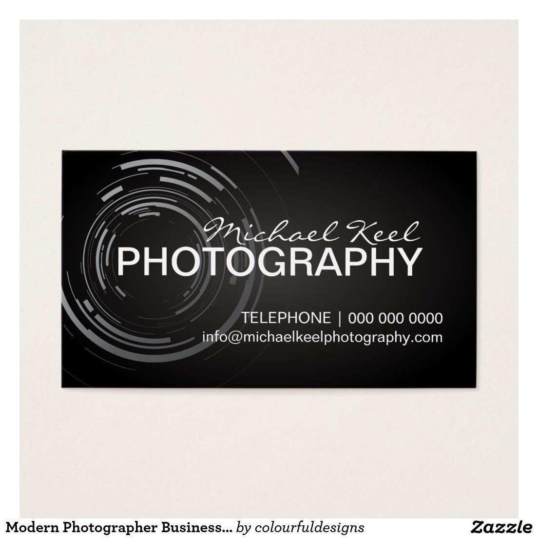 Moderne Fotograf Visitenkarten Visitenkarte Zazzle De Visitenkarten Visitenkarten Vorlagen Karten