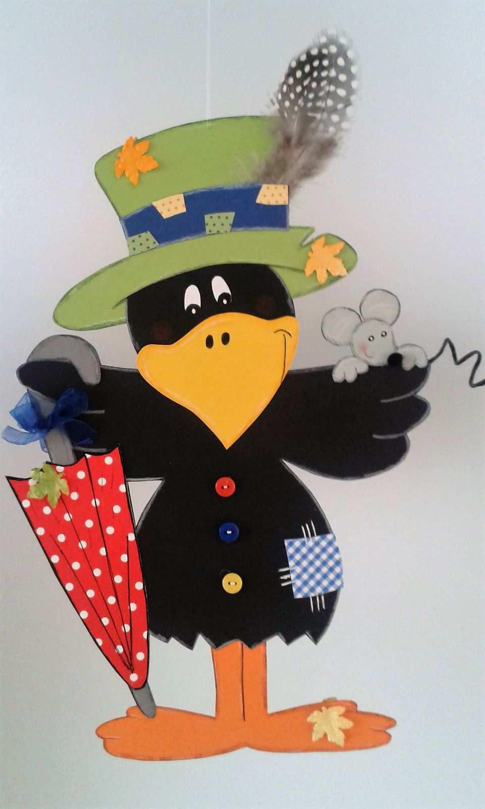 Fensterbild Rabe Als Vogelscheuche Herbst Dekoration Tonkarton 4 Eur 11 00 Autumn Crafts Fall Crafts Preschool Art