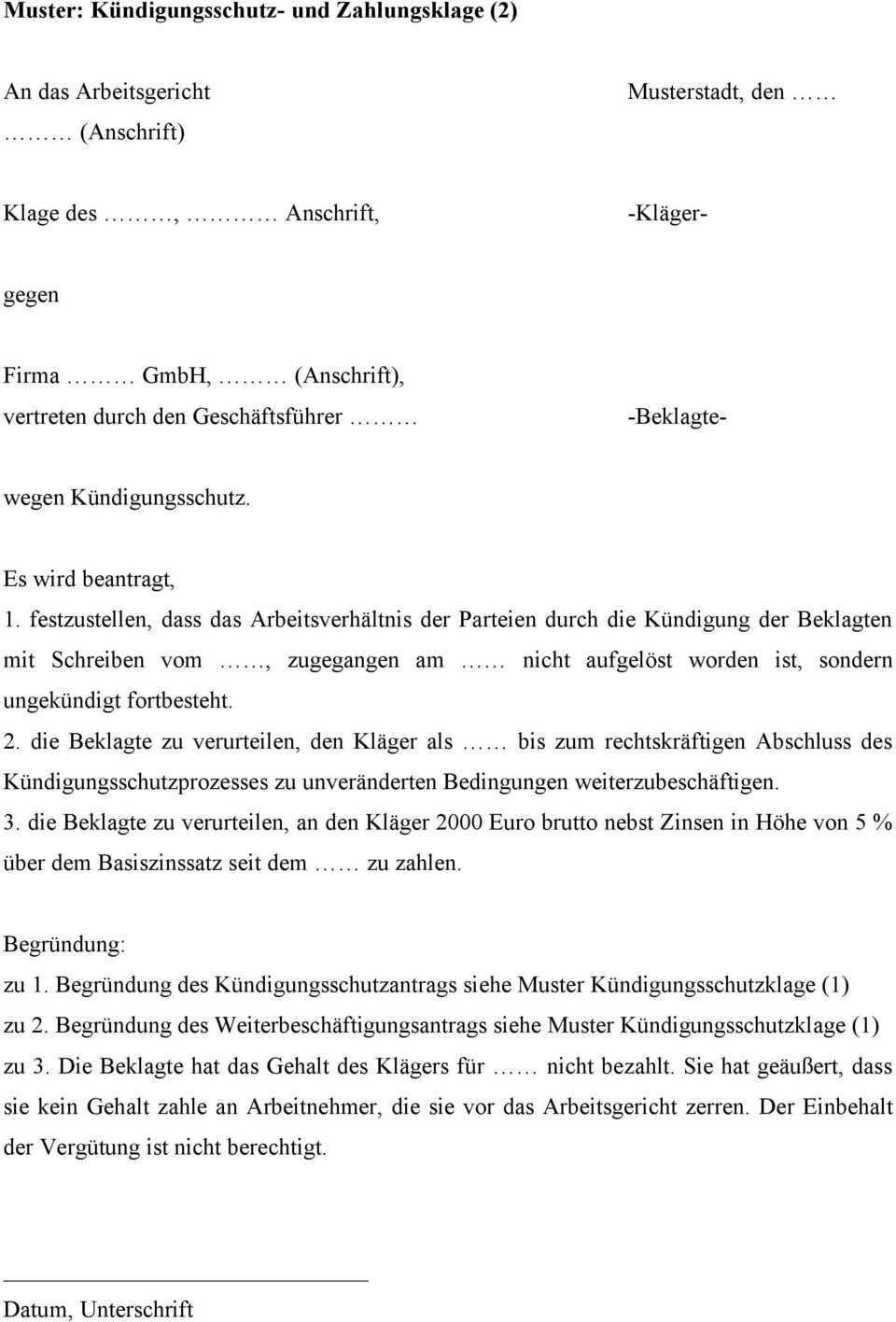 Firma Gmbh Anschrift Vertreten Durch Den Geschaftsfuhrer Beklagte Pdf Kostenfreier Download