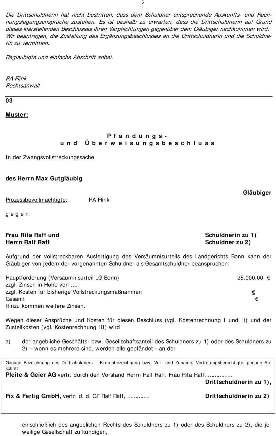 Losungshinweise Abschnitt F Zwangsvollstreckung Grundfall Iv Pdf Kostenfreier Download