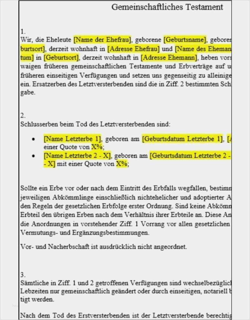 38 Grossartig Vorlage Testament Alleinerbe Bilder Briefvorlagen Anschreiben Vorlage Geschenkgutschein Vorlage