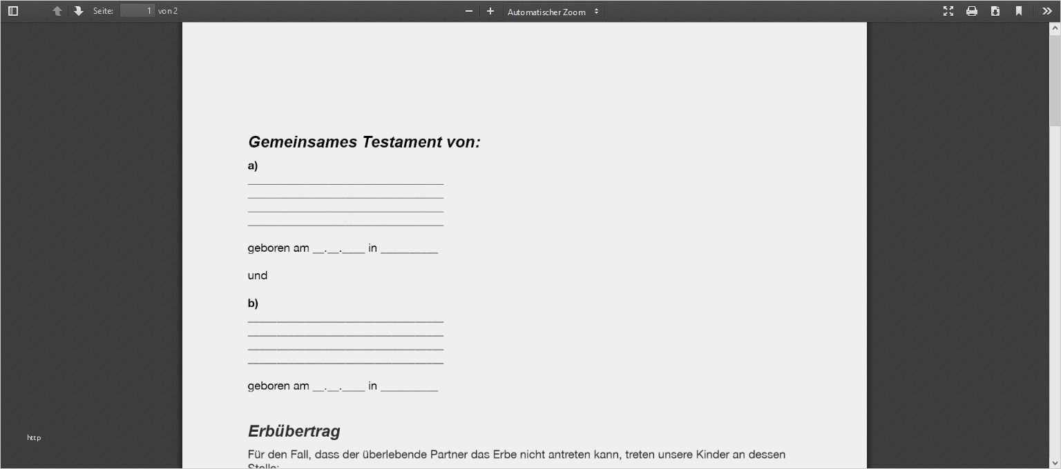 Bewundernswert Vorlage Berliner Testament Zum Ausdrucken Abbildung Lebenslauf Vorlagen Word Vorlagen Briefkopf Vorlage