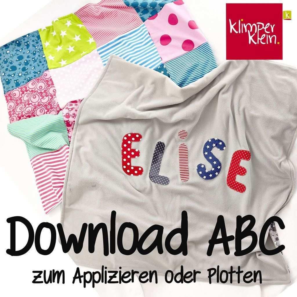 Freebook Abc Applikation Vorlagen Applikationsvorlagen Baby Applikationen