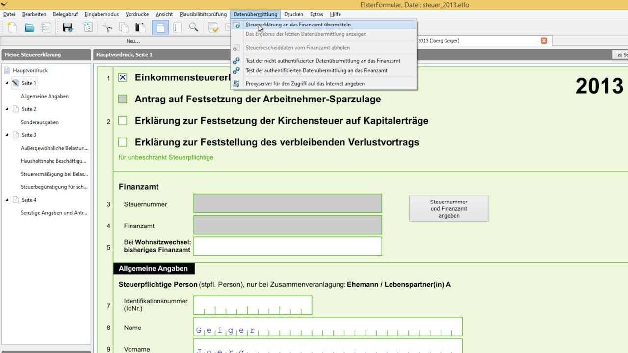 Elsterformular Steuererklarung Kostenlos Praxis Tipp Deutsch Chip Youtube