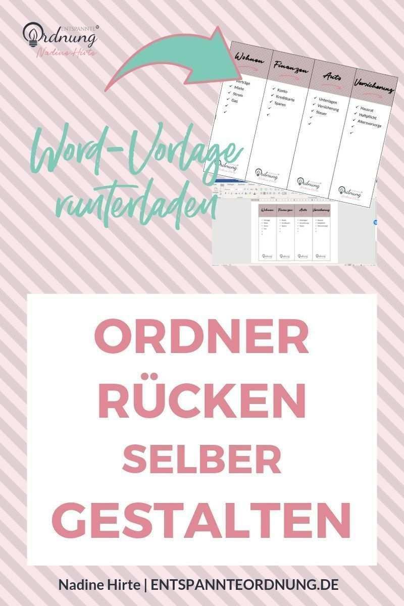 Ordnerrucken Word Kostenlose Vorlage Zum Download Download Kostenlose Ordn Downloaddownload Kostenlose Ord In 2020 Folder Labels How To Memorize Things Words