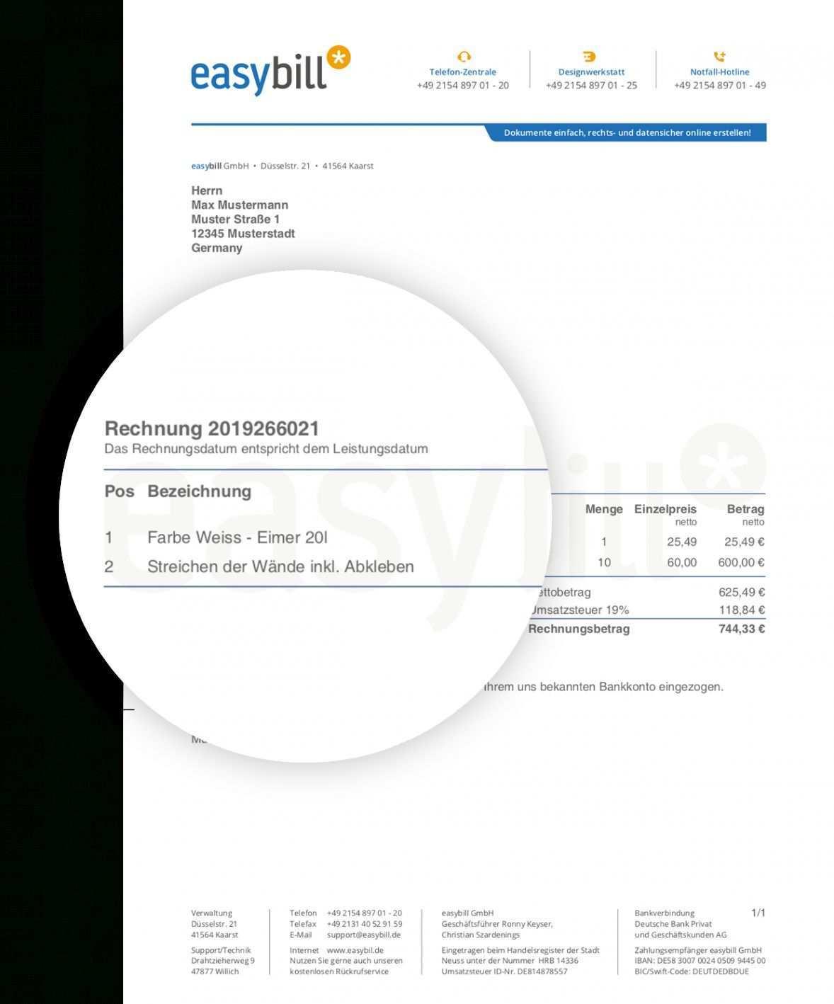 Durchsuche Unsere Druckbar Von Kostenlose Rechnungsvorlage Kleinunternehmer Rechnung Vorlage Rechnungsvorlage Vorlagen Word