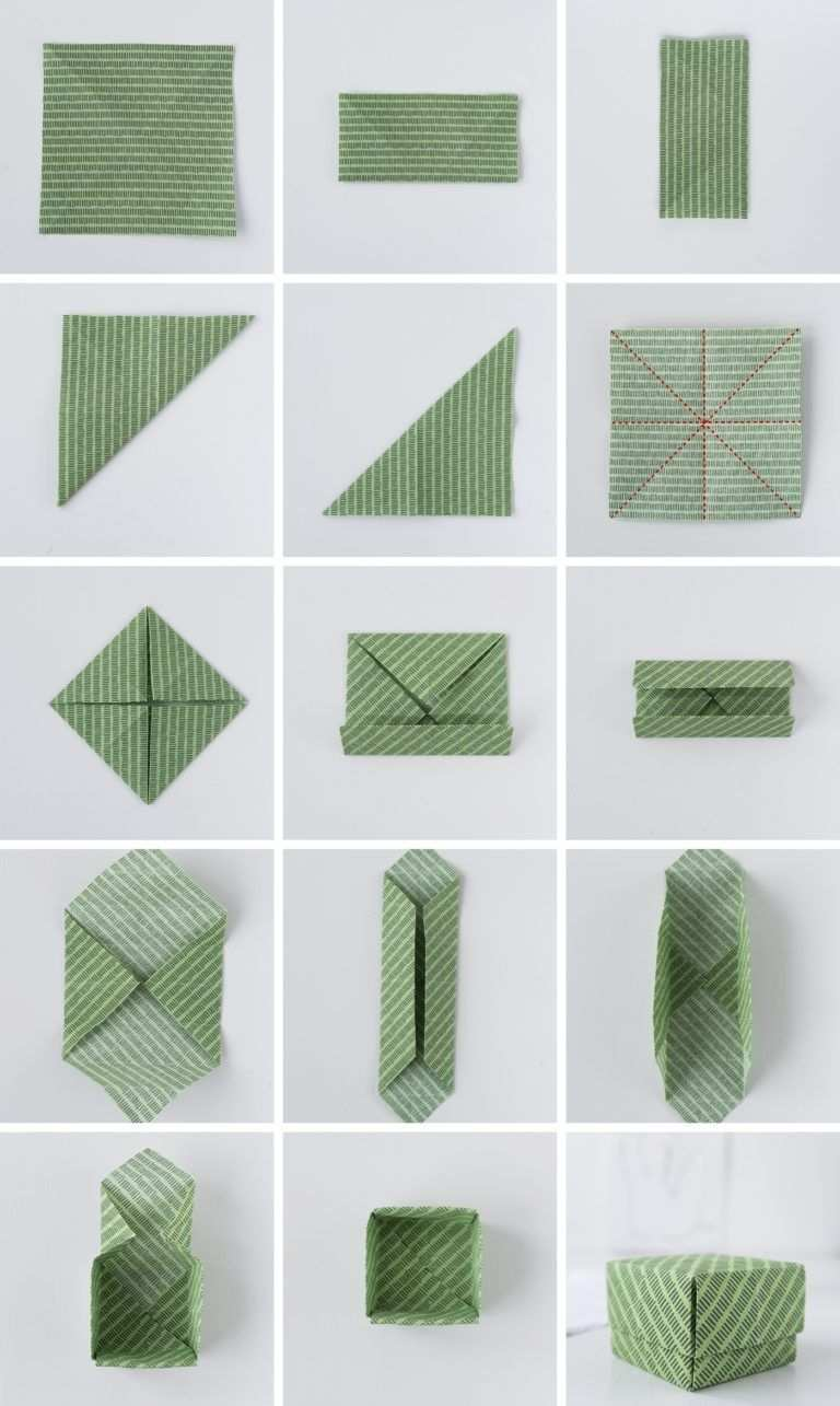 Origami Aus Stoffresten Anleitung Fur Einfache Schachteln Origami Schachteln Schachteln Falten Anleitung Origami Boxen