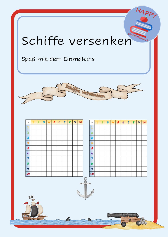 Die Piraten Kommen Schiffe Versenken Mit Dem Einmaleins Schiffe Versenken Einmaleins Mathe Spiele