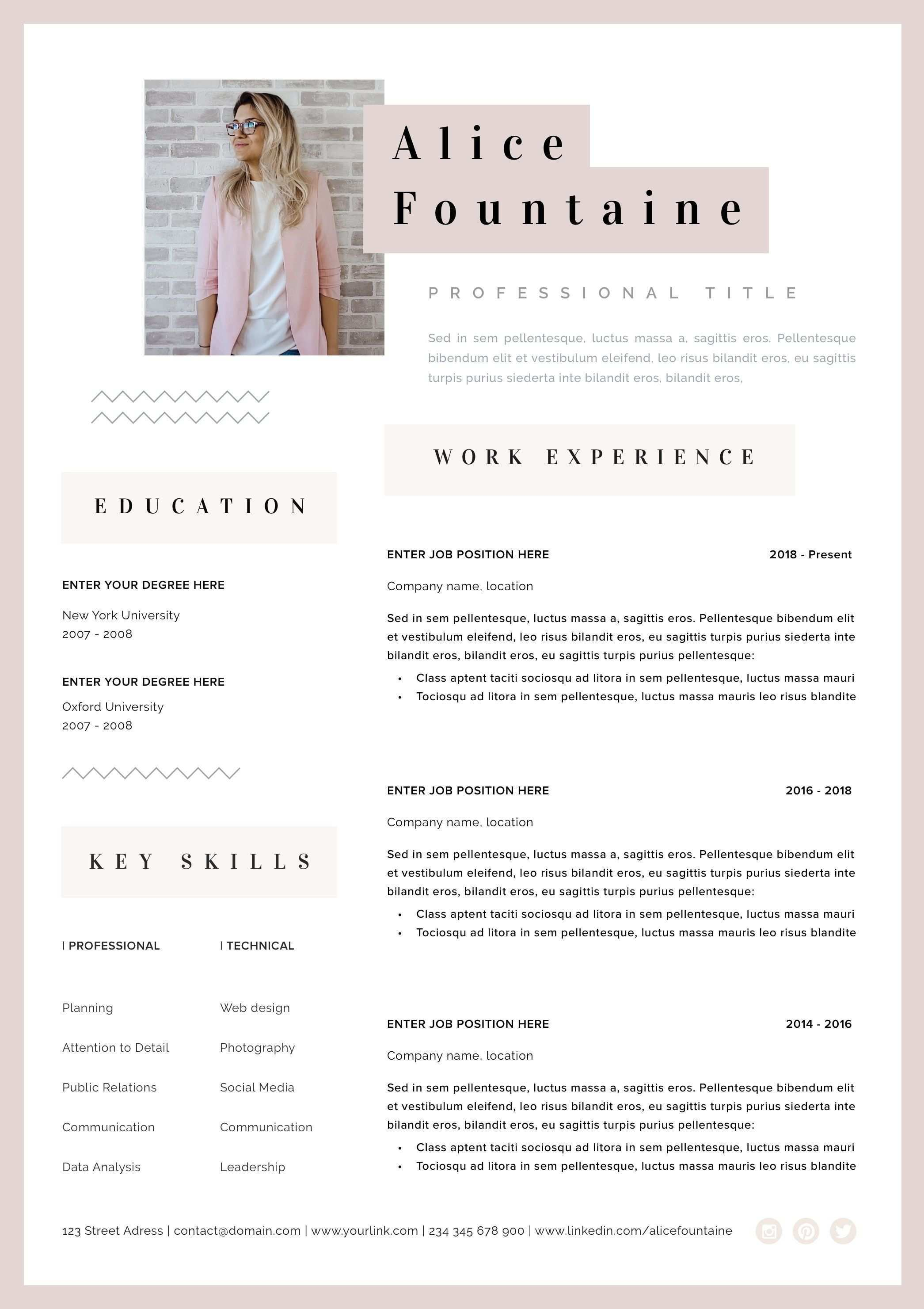 Creative Resume Template Word Pages Instant Download Resume Etsy Resume Template Word Creative Resume Creative Resume Templates