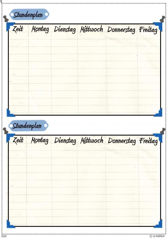 Kleiner Stundenplan 2 Fach 9 Blanko Blau Stundenplan Vorlage Stundenplan Stundenplan Ausdrucken