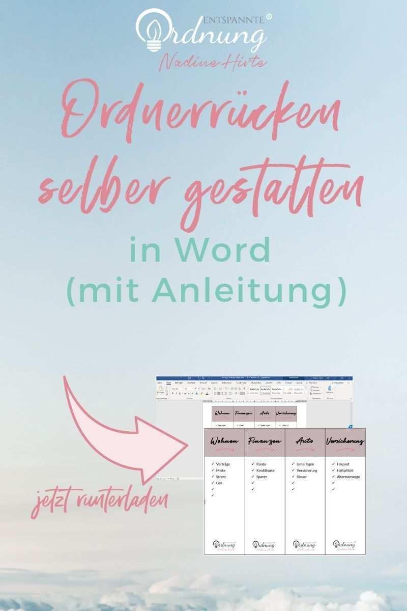 Ordnerrucken Word Pdf Kostenlose Vorlage Zum Download Ordnerrucken Word Ordnerrucken Ordner
