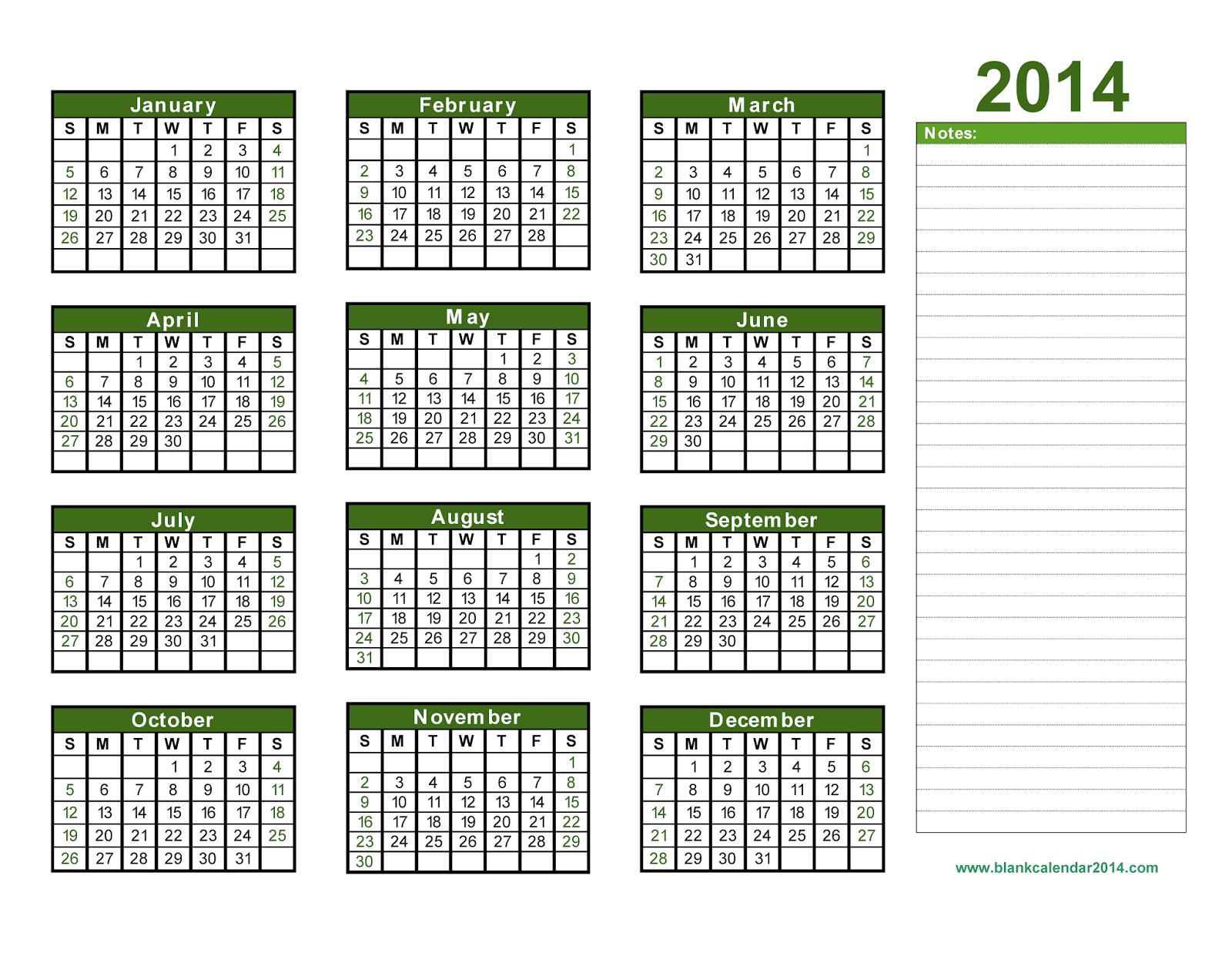 Yearly Calendar 2014 Kalender 2015 Kalender Vorlagen Kalender Druckvorlagen