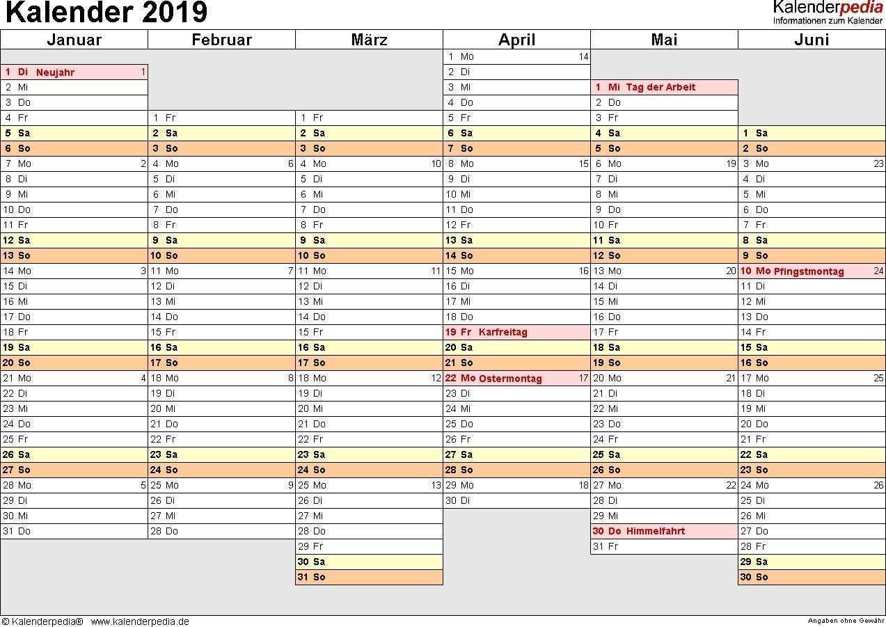 Kalender 2019 Zum Ausdrucken In Excel 16 Vorlagen Kostenlos Get Calendar Printables Free Printable Calendar Templates Daily Planner Printable