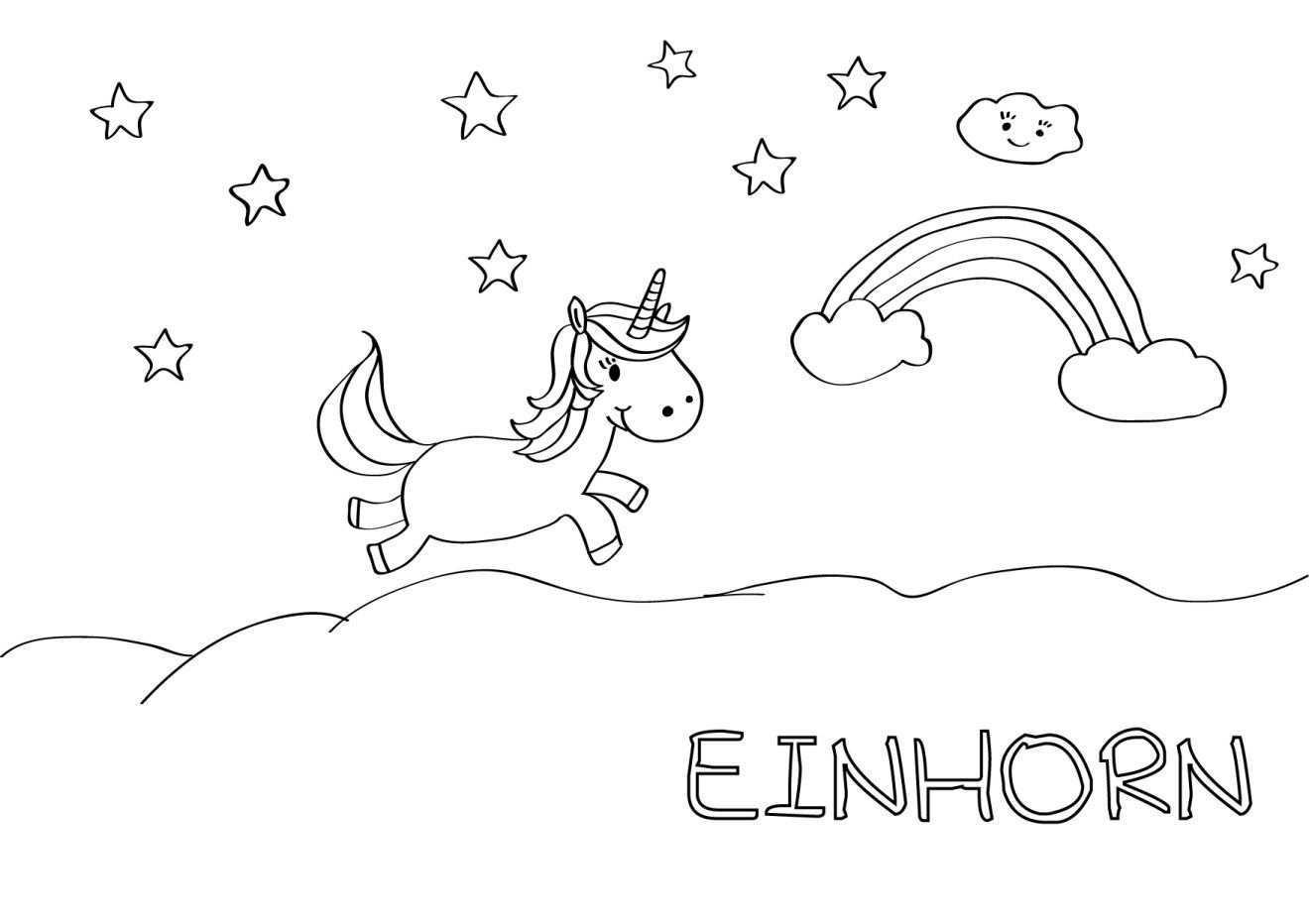 Kostenlose Malvorlagen Hallo Liebe Wolke Malvorlage Einhorn Ausmalbilder Einhorn Malvorlagen