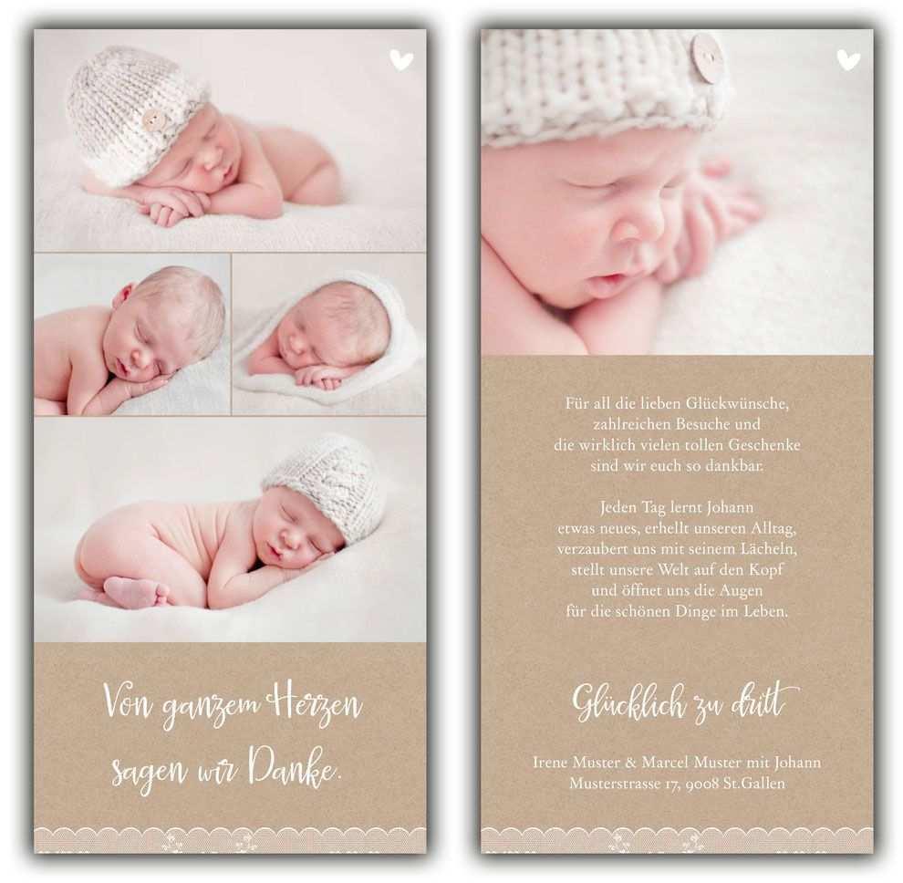 Dankeskarte Johann Dankeskarte Geburt Baby Dankeskarten Geburtskarten