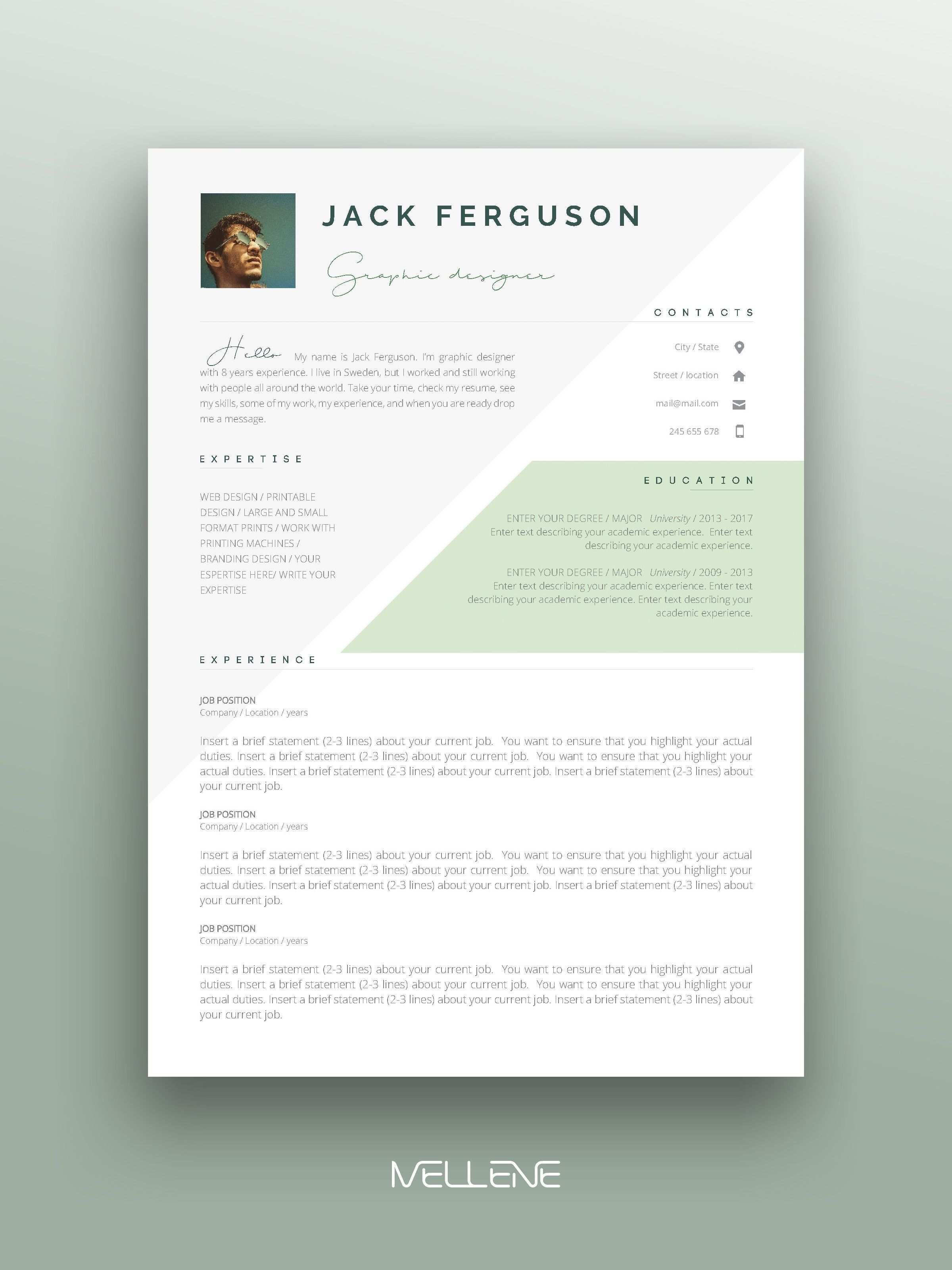 2 Page Resume Cv Design Cover Letter Free Icons And Usage Manual Professional Creati In 2020 Resume Design Creative Graphic Design Resume Resume Design Professional