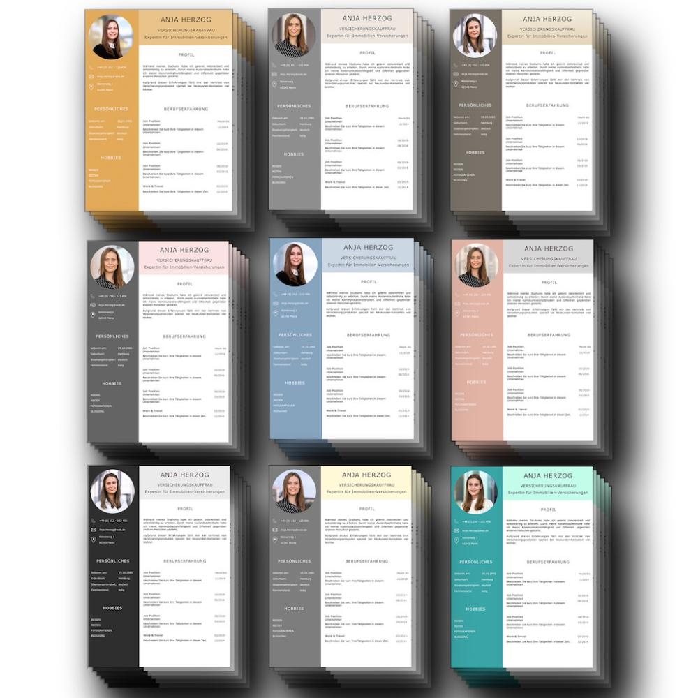 Kompletter Lebenslauf Design Vorlagen Set Fur Bewerber Mit Viel Berufserfahrung Lebenslauf Design Vorlage Lebenslauf Design Lebenslauf