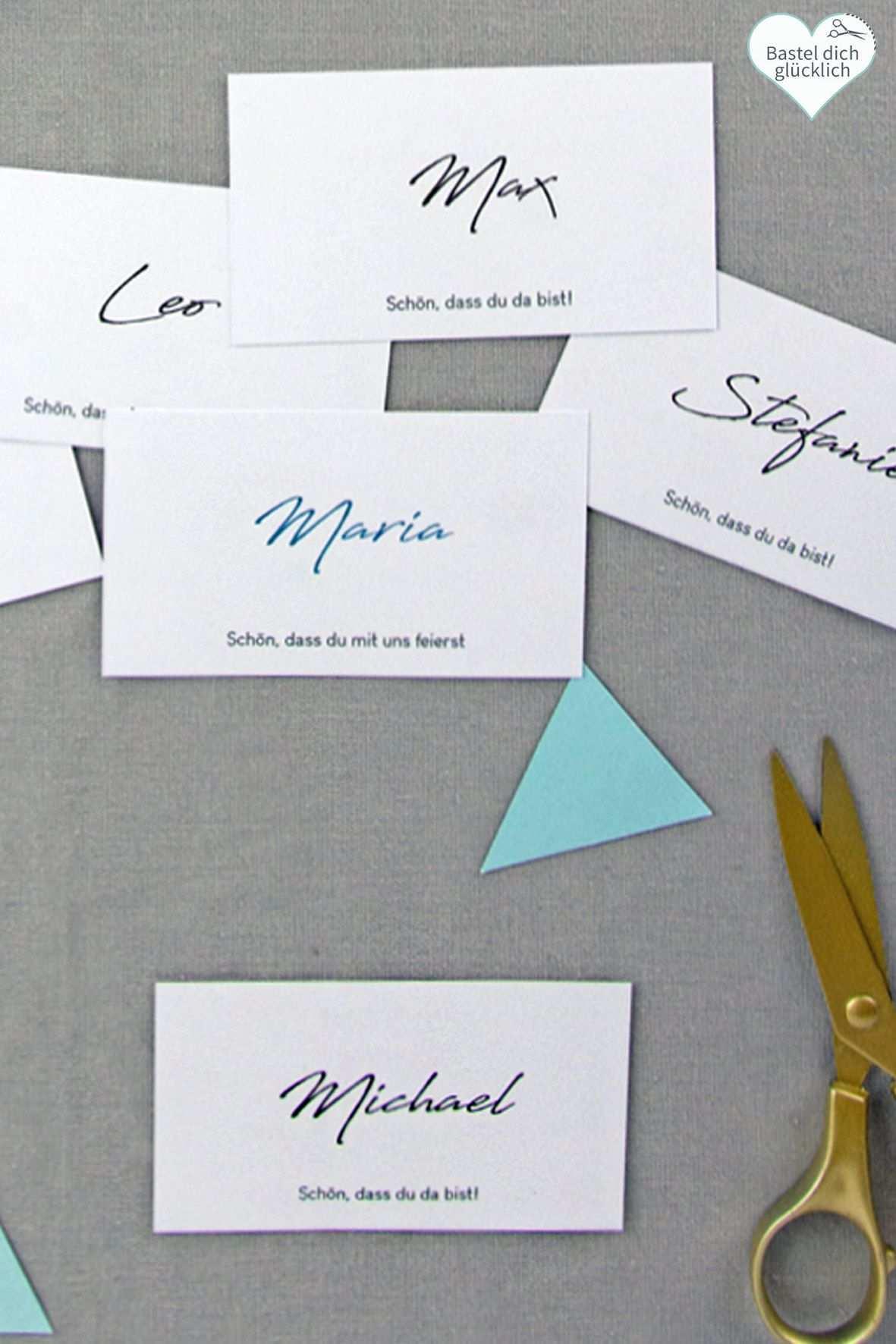 Minimalistisch 133 Word Vorlagen Zum Ausdrucken Namenskarten Ausdrucken Diy Hochzeit Planen