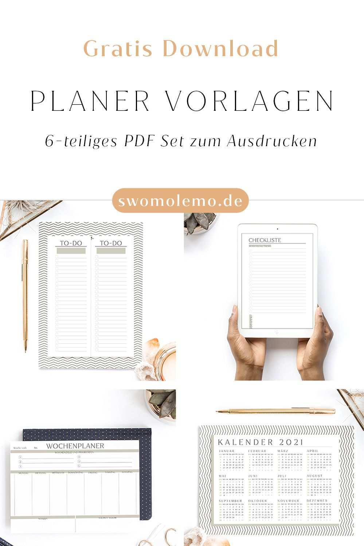 Gratis Planer Vorlagen Zum Ausdrucken 6 Teiliges Set Swomolemo Planer Vorlagen Planer Vorlagen