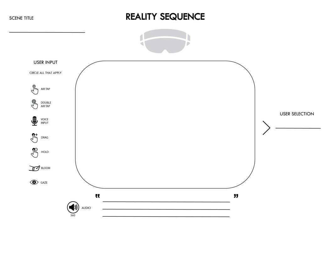 Mixed Reality User Flows A New Kind Of Template Prototypr User Flow Flow Reality