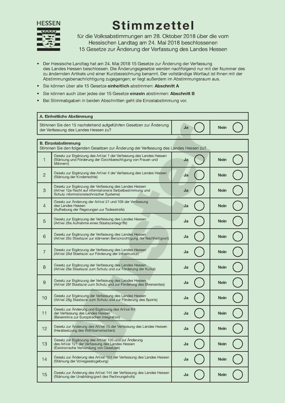Volksabstimmungen In Hessen 2018 Wikipedia