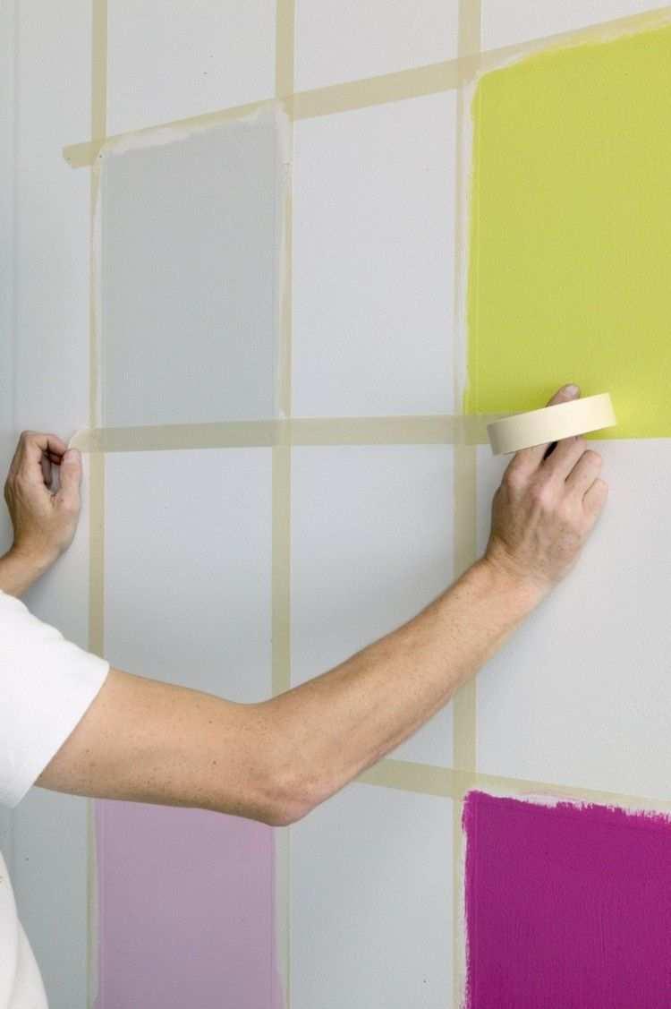 Wand Streichen Muster Selber Machen Schachbrettmuster Wande Streichen Wandfarbe Muster Wand Streichen Muster