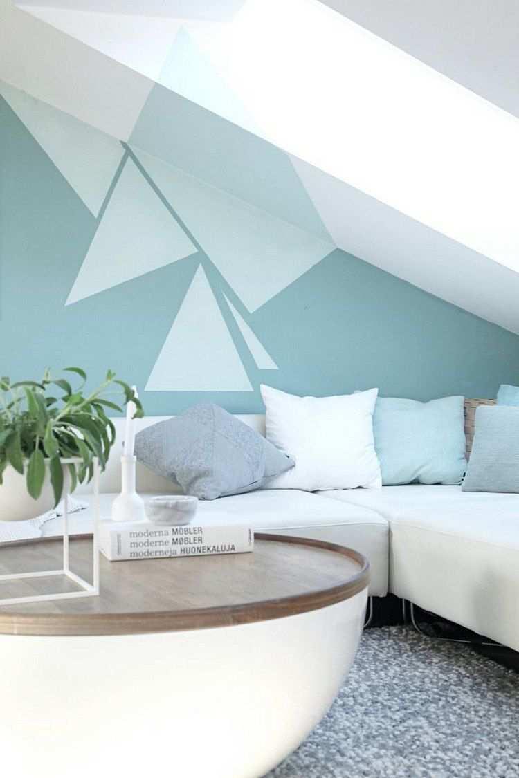 Peinture Decorative Osez La Peinture Geometrique Et Sublimez Les Murs Decor Bedroom Wall Designs Wall Paint Patterns