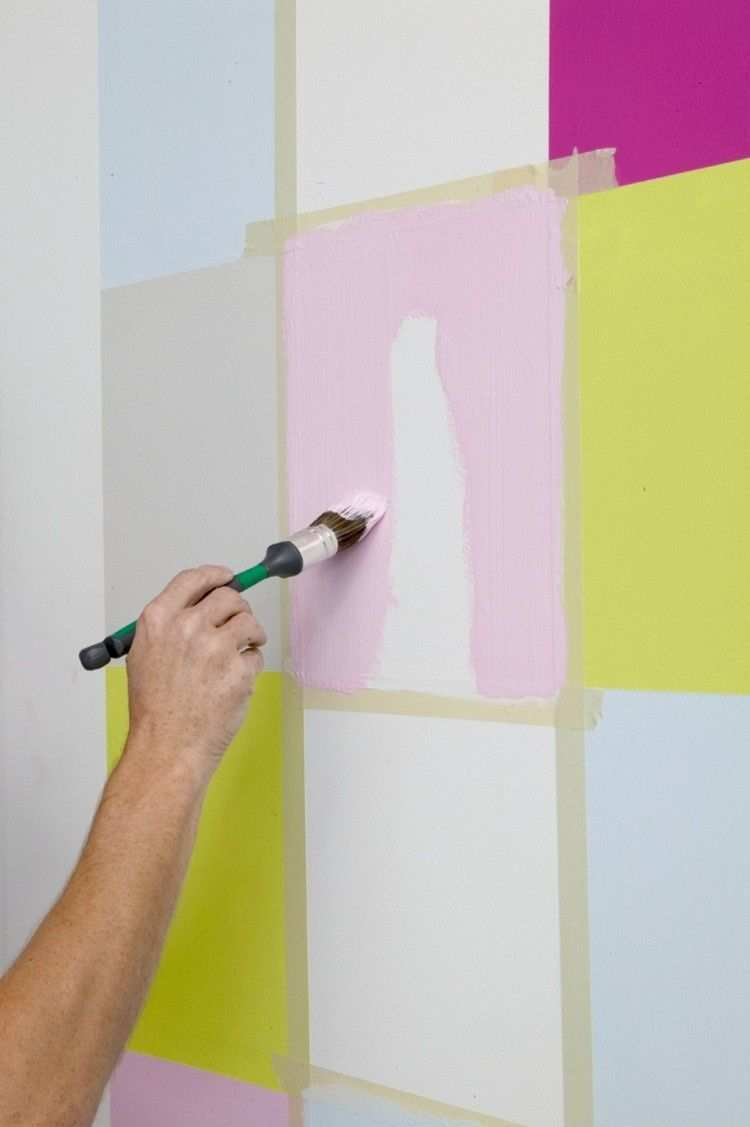 Peinture Decorative Dessin Geometrique Et Plus 70 Idees Pour Sublimer Les Murs Wand Streichen Muster Wande Streichen Wandfarbe Muster