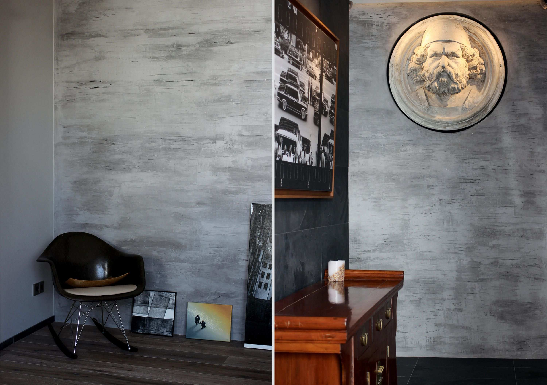 Innenputz Fur Die Wande Decorative Plaster Plaster Walls Concrete Wall